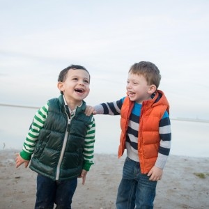 Two Boys on Beach Photo